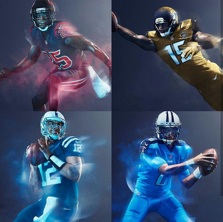 NFL: AFC South 2016 Color Rush Uniforms