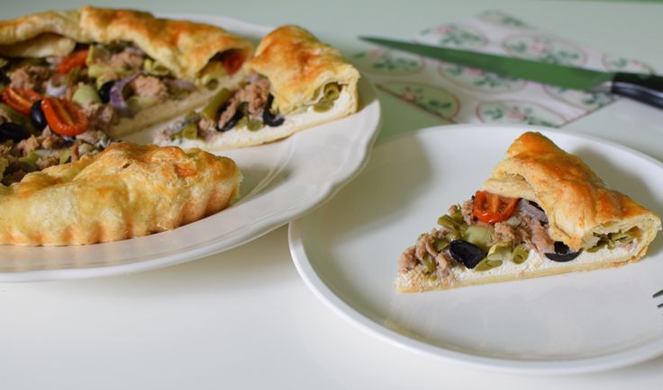 vegetable tart with tuna and ricotta