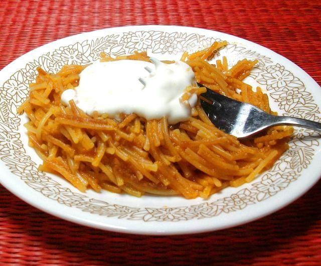 Sopa seca de fideos, receta básica de la cocina mexicana