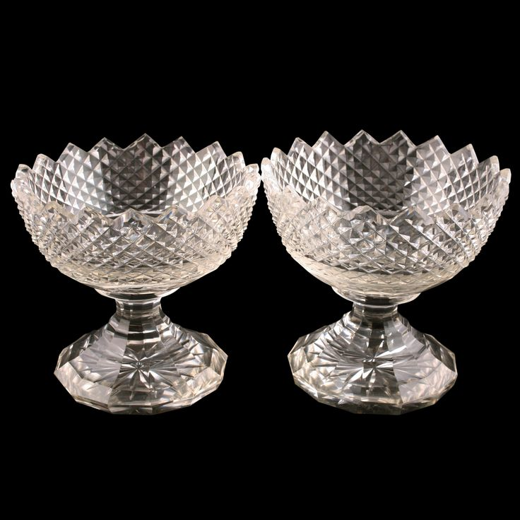 Pair of Glass Sweet Meat Dishes