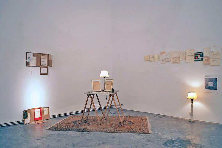 "Dimitra Vamiali, ""The Fine Qualities of the Distressed Paper"", 2015, mixed media installation @Ileana Tounta Contemporary Art Center"