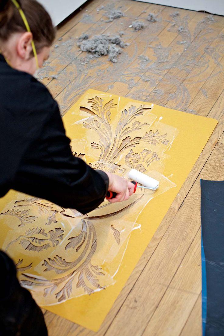 Catherine Bertola's Unfurling Splendour (v) at Bilston Craft Gallery. #ActsofMaking. Photo:Sophie Mutevelian