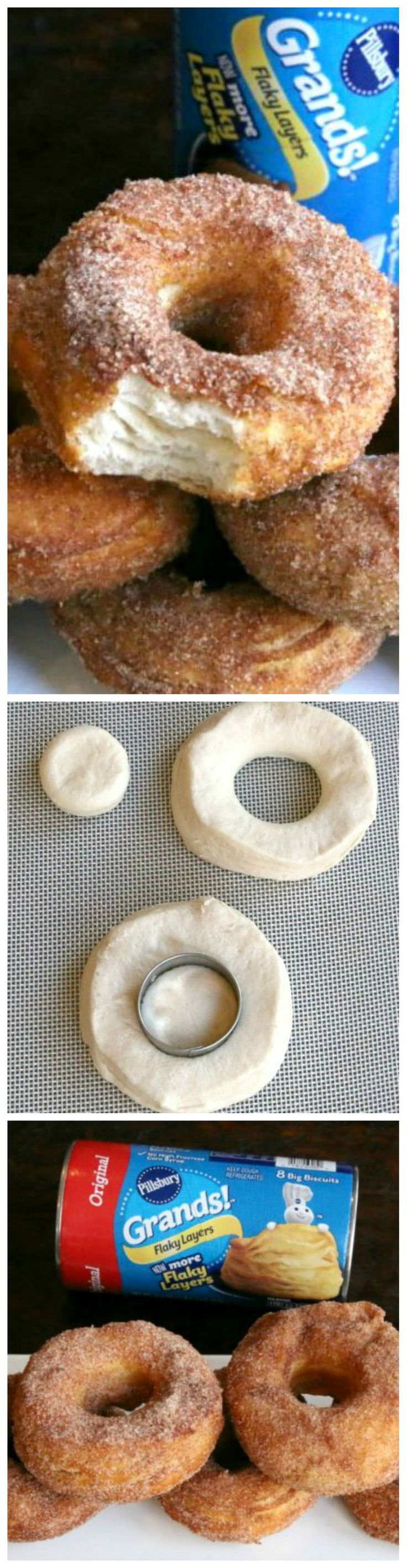 Easy Canned Biscuit Donuts ~ Melt in your mouth Donuts that take minutes to make!