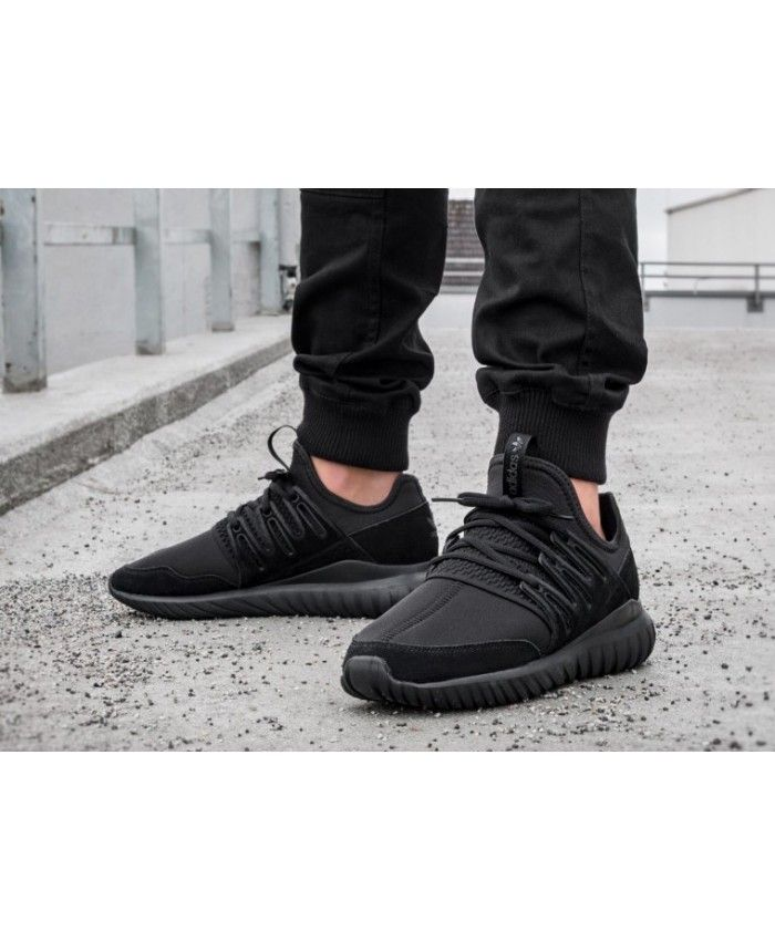 3f6923db8066 Adidas Tubular Radial Trainers In Core Black
