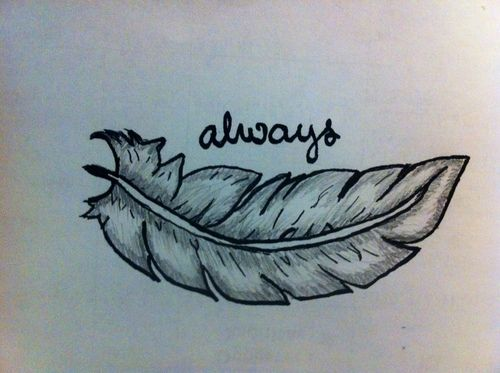 Indie Tattoos Tumblr Feather Hipster Tattoo