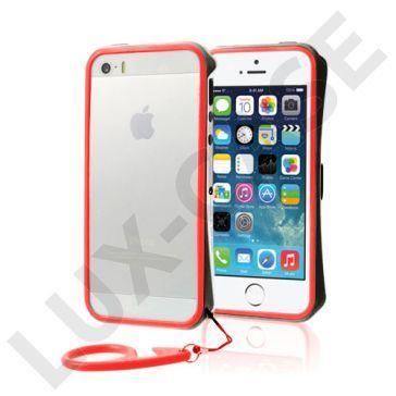 Clean Vapor (Svart - Rød) iPhone 5/5S Lettvektet Bumper
