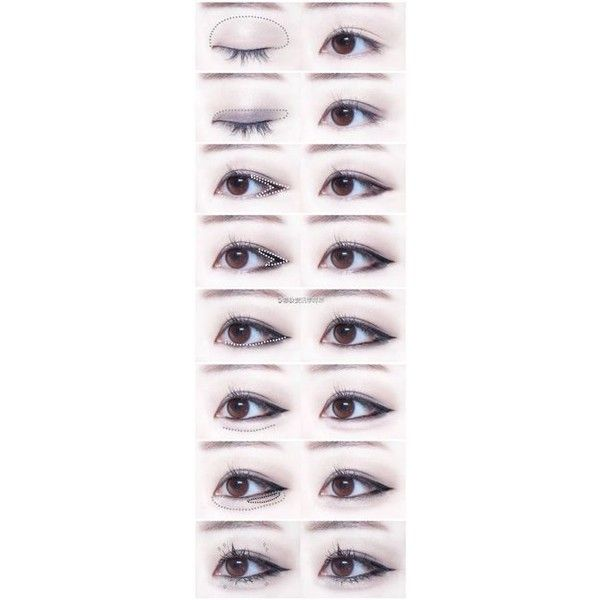 Aurora Sky Purple Asian Eyes FALL Korean MAKEUP TUTORIAL DIY HOW TO... ❤ liked on Polyvore featuring beauty products, makeup and eye makeup