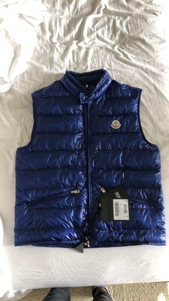 aaf719af3 Moncler Gui Gilet black L 4 logo quilted down puffer vest coat ...