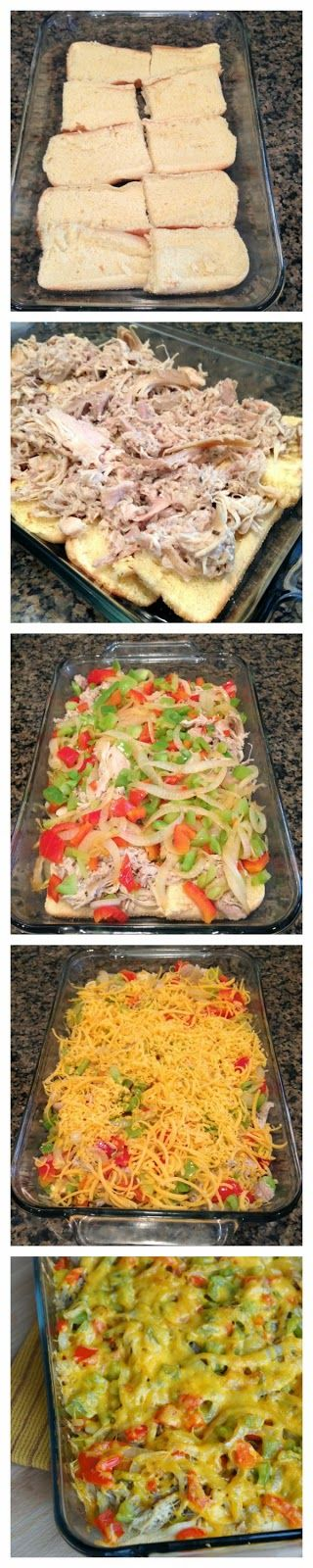 Recipe for Chicken Philly Sandwich Casserole...a portable way to serve these delicious sandwiches!