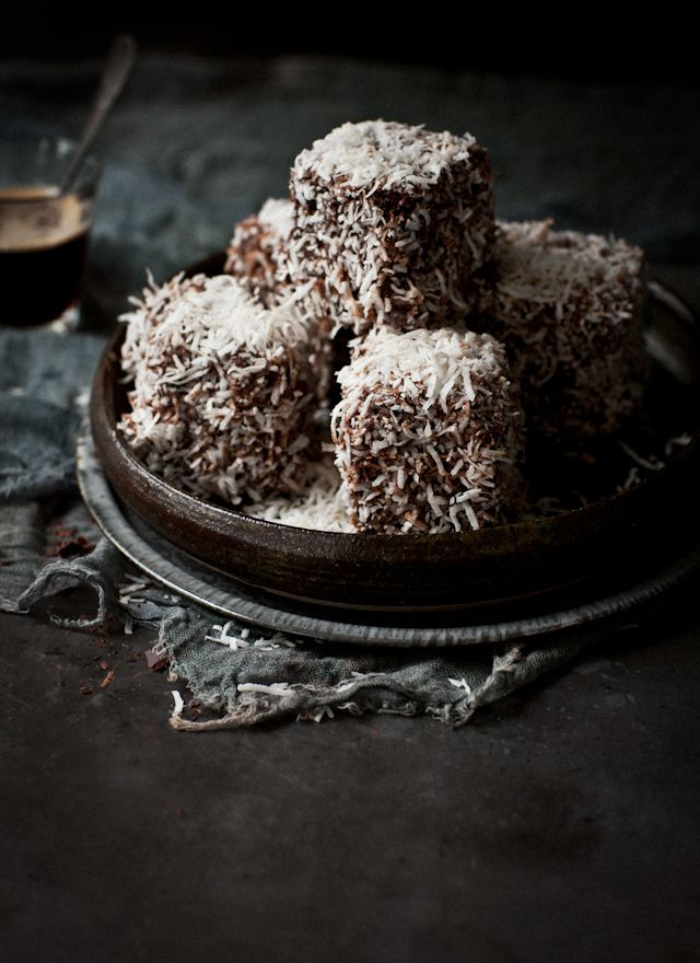 Mocha Chocolate & Cherry Lamingtons | What Katie Ate