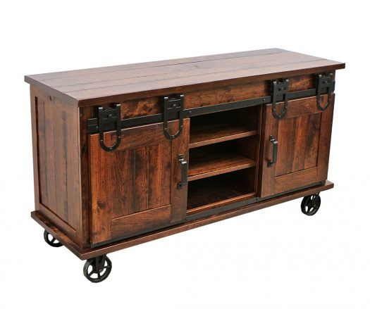 Barn Door TV Cart