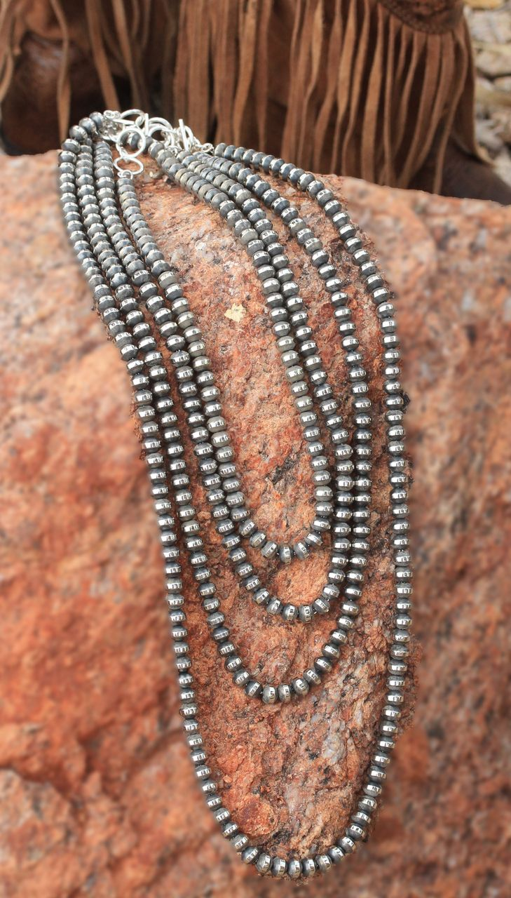 Caracol - Inspired Jewelry and Handbags - Navajo Pearls | Necklace | Silver | Caracol Jewelry, $39.00 (http://www.caracolsilver.com/navajo-pearls-necklace-silver-caracol-jewelry/)