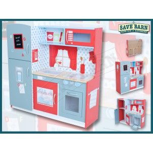 Wooden Kitchen Playset - Opening Doors & Sink #Shoproads #onlineshopping #Educational Toys