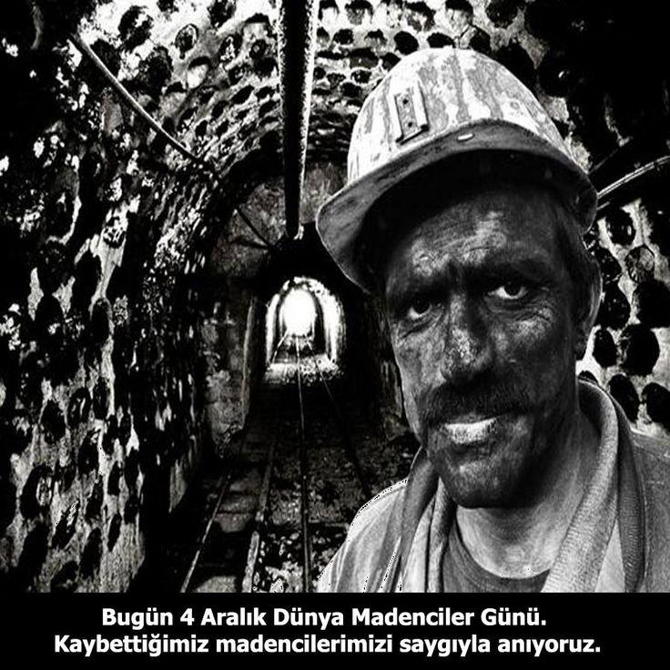 Bugün 4 Aralık Dünya Madenciler Günü.  Kaybettiğimiz madencilerimizi saygıyla anıyoruz. #4AralıkMadencilerGünü