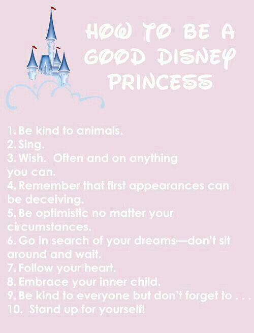 How To Be A Good Disney Princess
