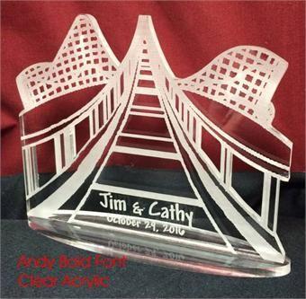New design! roller coaster wedding cake topper, order yours at: http://www.best-engraving.com/roller-coaster-wedding-cake-topper.aspx