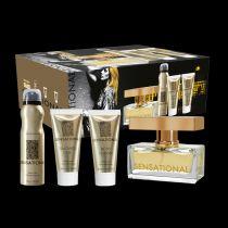 ÇİÇEKSİ Gül, bergamot, sandal ağacı, musk ve amberin romantik birleşimiyle karşı konulmaz olun! Sensational seti kokunuzun daha kalıcı olması için parfüm, deodorant, vücut losyonu ve duş jelinden oluşmaktadır. Set, özel kutulu ve çantalıdır. http://www.farmasi.peacocksem.com/