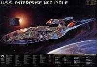 Enterprise NCC-1701-E cutaway poster