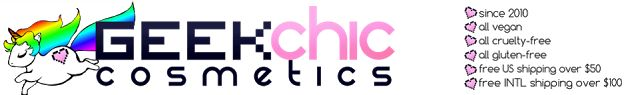 Kame House Crafts: Geek Chic Cosmetics Swatches and Review