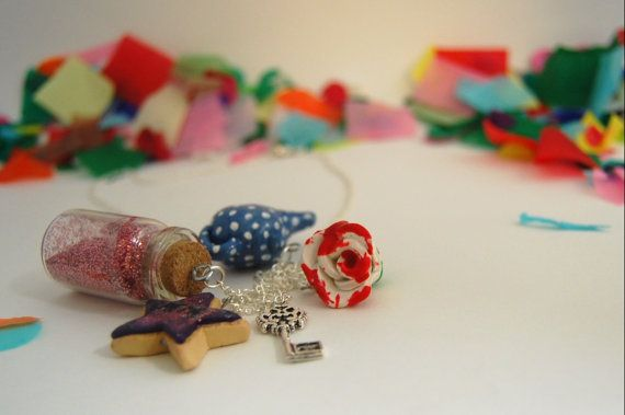 polymer clay alice in wonderland five charm by SophieLoxleyDesign