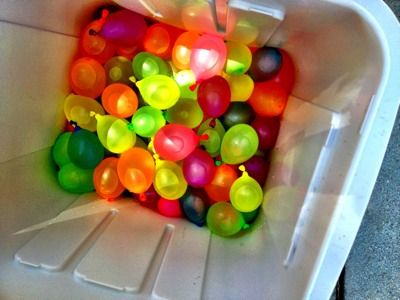 GLOW Water Balloons For A Balloon Toss Game Birthday Party Kids At The Park Ideas
