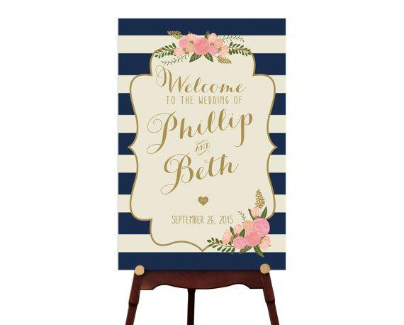 PRINTABLE  Large Custom Wedding Sign // by RememberNovemberInc