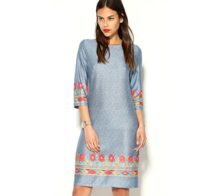 Šaty s potiskem květin na rukávech | modino.cz #ModinoCZ #modino_cz #modino_style #style #fashion #dress