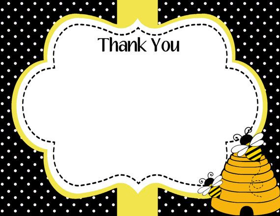 Mommy to Bee Baby Shower Thank You Card, Bee Day Thank You Note, Instant Download - Digital File