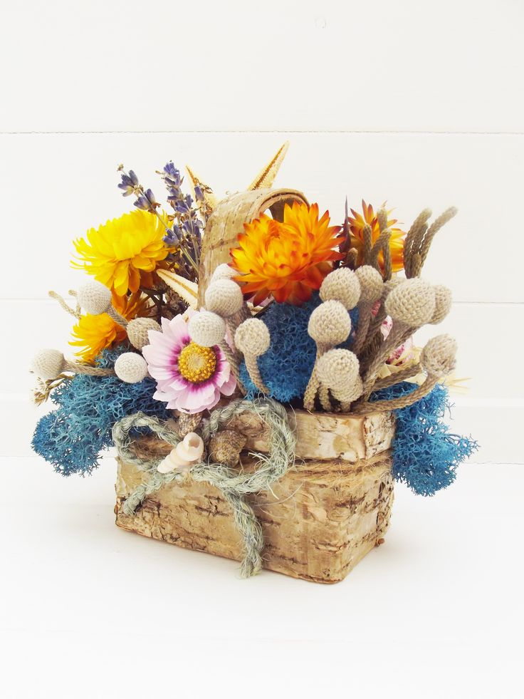 42 best dried and silk flowers arrangements and baskets images on highfields flowers shells mini basket mightylinksfo Choice Image