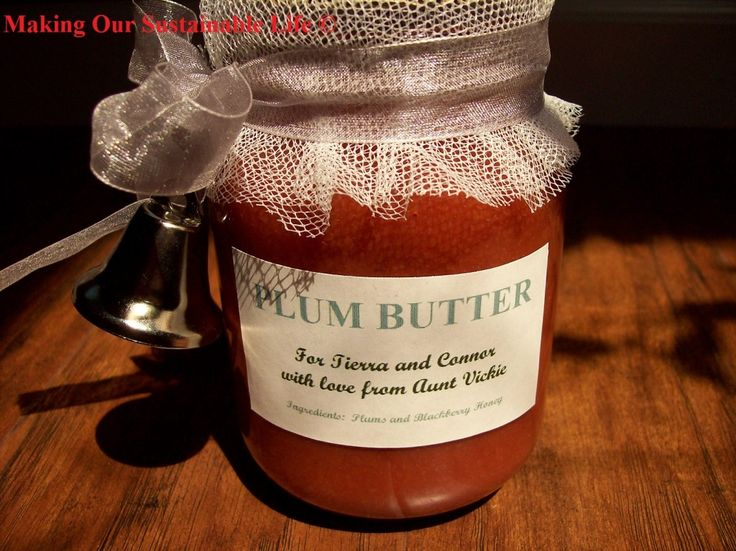 Homemade Plum Butter (with canning instructions)
