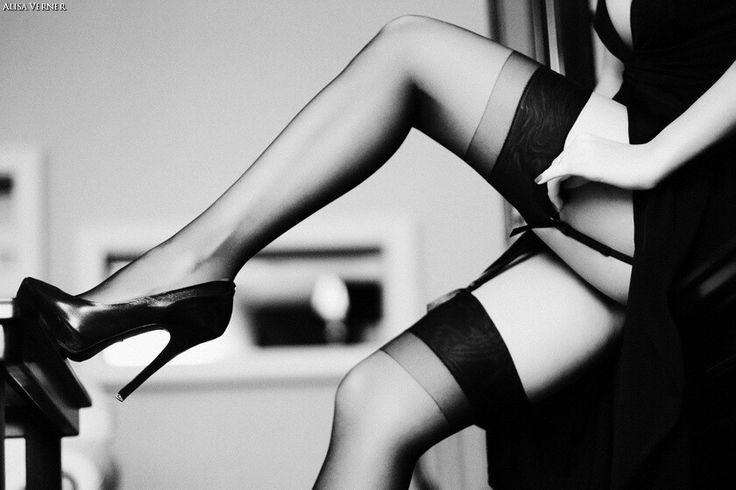 I love black sheer stockings!!!! And them heels!!!!