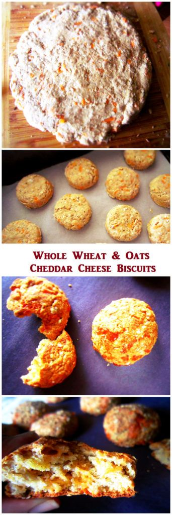 Cheddar Cheese Biscuits  #wholegrain #healthy #yummy #cheddar #oats #baked #biscuits #snacks #homemade