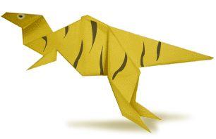 Origami Deinonychus