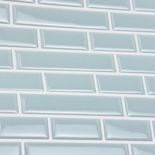Inhome Blue Sea Glass Peel Stick Backsplash Tiles Nh2361 The Home Depot In 2021 Peel Stick Backsplash Stick On Tiles Diy Backsplash