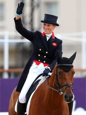 Zara Phillips of Great Britain on horse High Kingdom compete in the Equestrian Dressage event on Day 2 of the London 2012 Olympic Games at Greenwich Park on July 29, 2012.