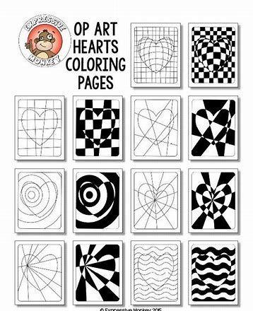 Rsultat Dimages Pour Op Art Cubes Template Art Lessons To Organize Op Art Lessons Art