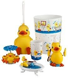 9 best images about cute bathrooms on pinterest rubber for Duck bathroom accessories