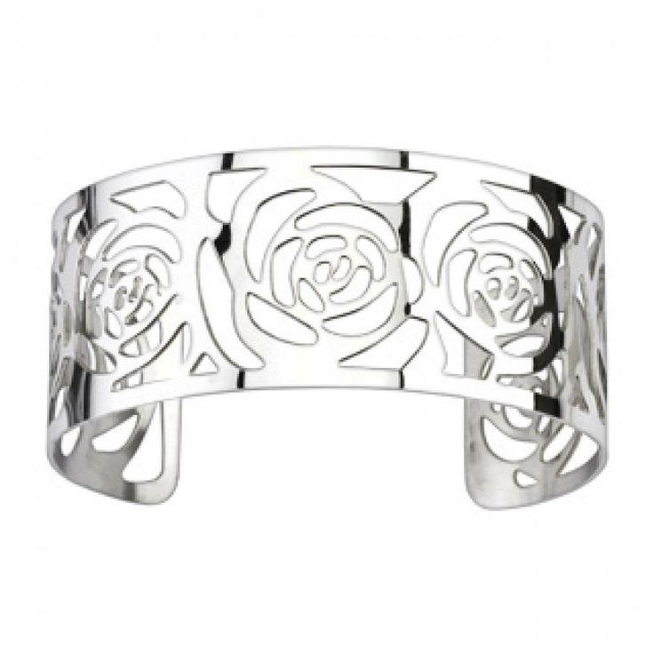 Ladies stainless steel Ciselé bangles - Spikes