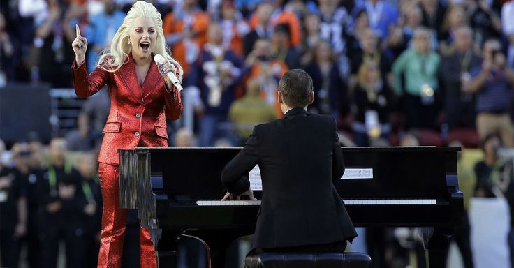 Lady Gaga kicked off Super Bowl 50 with a stirring rendition of the National Anthem that proved equally patriotic and pop song.