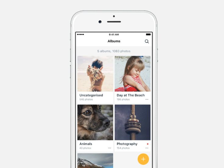 Some transitions and interactions for a photo album app that suggests photos for…