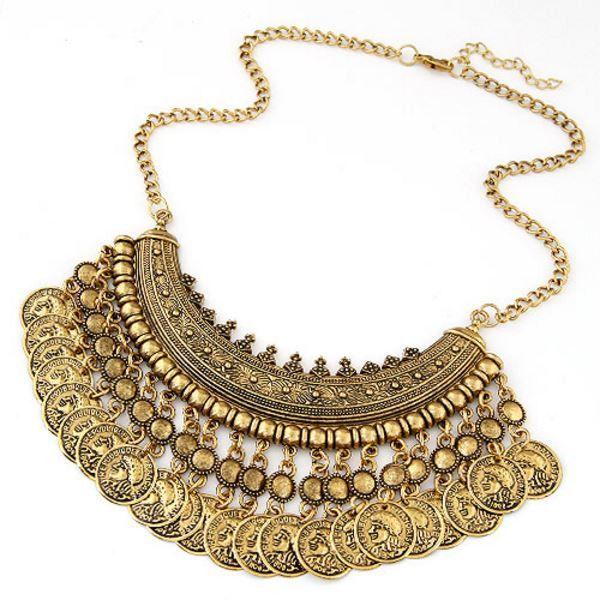 $11 Bohemian Gold Coin Necklace