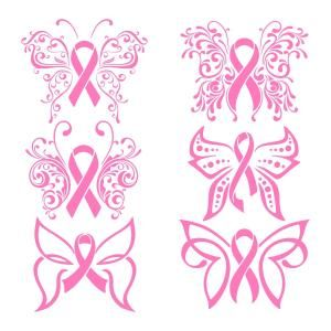 (FREE daily cut file) Pink Ribbon - Available today only, Sept 15