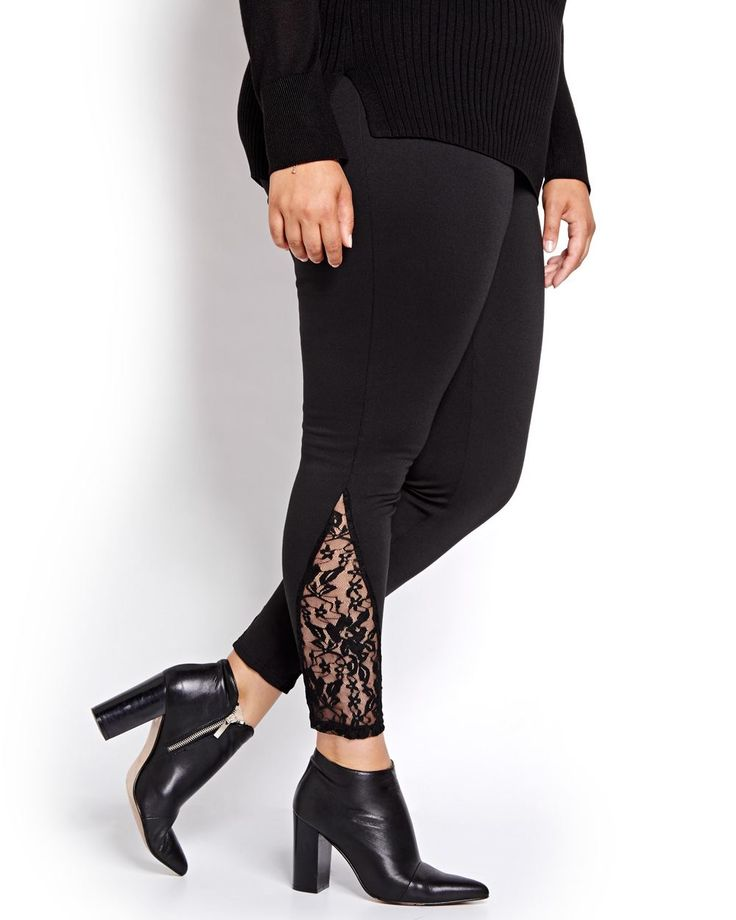 Ponte di Roma Legging with Lace Inserts