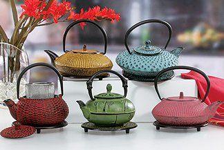Cast Iron Teapots: Tetsubin Style Cast Iron Tea Kettles, Tea Cups & Trivets