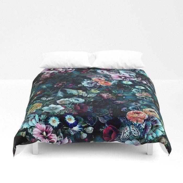Buy Night Garden Duvet Cover By Rizapeker Worldwide Shipping