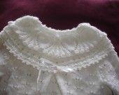 combinaison de baptême tricotée main