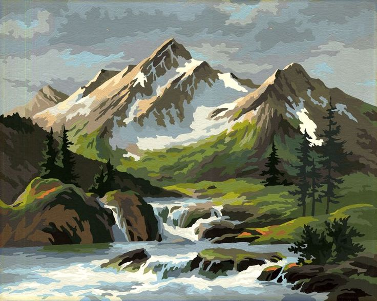 painting by numbers mountains
