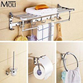 Acessórios de hardware banheiro anel de toalha suporte de papel higiênico prateleira escova alishoppbrasil