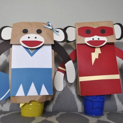 354 best images about paper bag puppets on pinterest for Monkey crafts for preschool