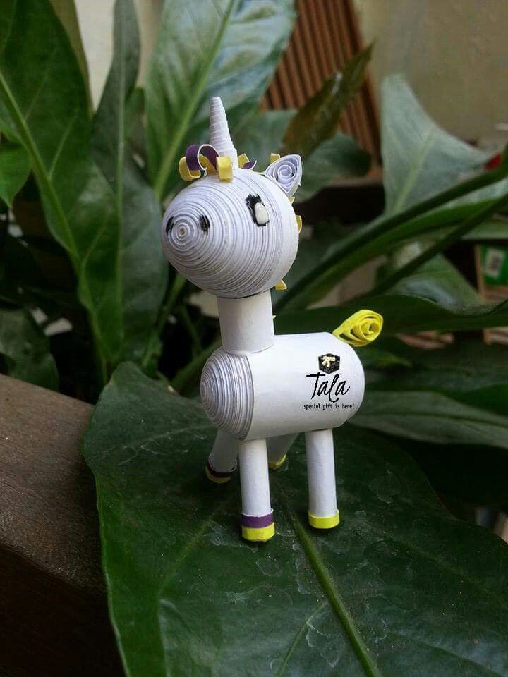 #talapaperquilling #paperart #craft #gift #art #jakartaolshop #jakartaonlineshop #handcraft #cute #customorder #jakarta #asia #indonesia #unicorn #kuda